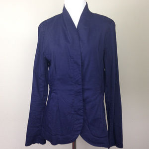 ❤️HP❤️ Eileen Fisher Navy Jacket small